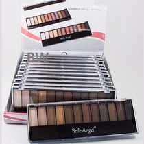 Paletas Maquiagem Sombras 3d Matte - Kit Caixa C/ 12 Atacado