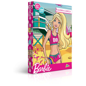 Quebra-cabeça 100 Peças - Barbie Praia