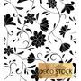 Empapelado Vinilico Flores Blanco Y Negro Galia Muresco