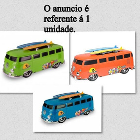 Carrinho Kombi Prancha De Surf Pneus Borracha Miniatura 40cm