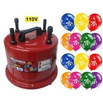 Inflador Balões 4 Bicos Profissional 1300 Watts 110.volts