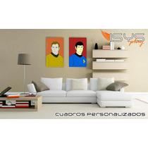 Cuadros De Star Trek, Capitan Y Spock Comic