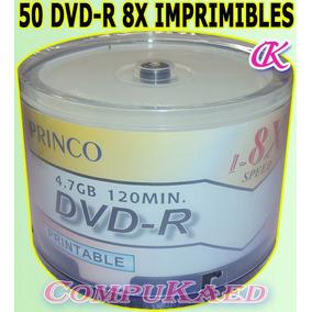 Cono*50 De Dvd-r Grabable Princo Imprimibles Vel. 8x 2 Horas