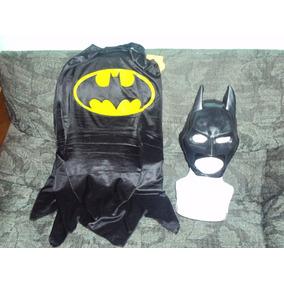Traje De Batman Capa Y Mascara Para Niño