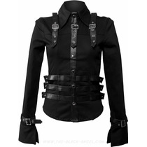 Camisa Corset Goth Rock Punk