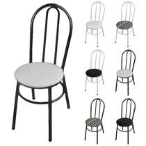 Cadeira Poltrona Goiás Jantar Cozinha Em Aço Várias Cores