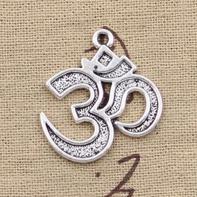 Colar Cordão Om Metal Yoga Meditação Zen Índia Artesanato