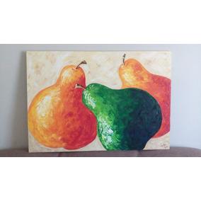 Cuadro Al Oleo Frutas Peras