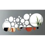 Espelho Decorativo Conjunto Bolas/círculos 27 Peças Acrílico