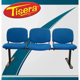 Tandem 3 Cuerpos Oficina Tapizada Metalica Tisera Codf64