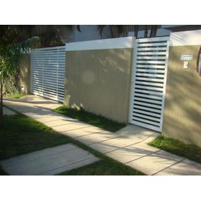 Portão De Garagem Alumínio Deslizante Régua Horizontal