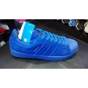zapatos adidas superstar azules