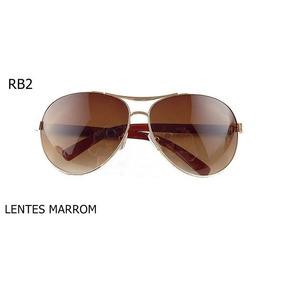 Oculos Aviador Marrom Escuro - Óculos no Mercado Livre Brasil 1484eded67
