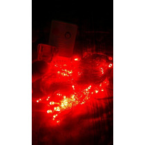Luces Navidad Rojo Extension 10m 100 Led Interconectable