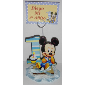 20 Souvenirs + Central Mickey Mi Primer Añito Personalizados