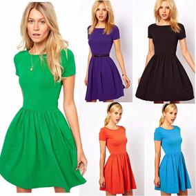 Vestido Corto En Colores! Modal Todos Los Talles!