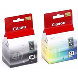 Kit Cartuchos Canon 40 Negro Y 41 Color (pg-40 Y Cl-41)