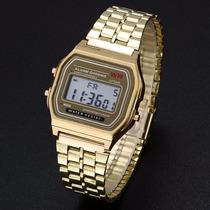 Reloj Dorado F-91w Led
