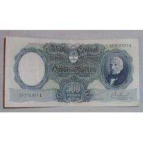 Billete Antiguo Argentina 500 Pesos Moneda Nacional