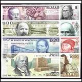 Coleccion De 8 Billetes De Mexico