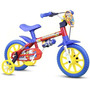 Bicicleta Infantil Nathor Aro 12 Masculino Fireman Az-verm-a