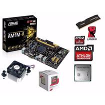 Kit Asus Am1m-a/br + Amd Athlon 5350 Quadcore + 8gb Hiperx