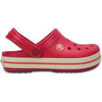 Zapato Crocs Unisex Infantil Crocband Kids Rosa/blanco