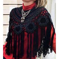 Poncho Crochet Modelo Ruso Envio Gratis