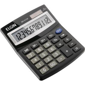 Calculadora De Mesa Mv4124 Solar/bateria - Elgin