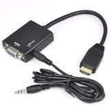 Conversor Adaptador Hdmi A Vga Con Audio 1080 Full Hd