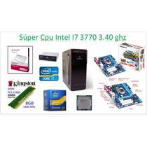 Cpu Intel I7 3770 3.40ghz Disco Duro Solido 480gb, 8gb Ram