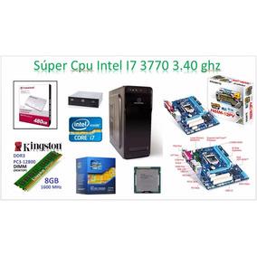 Cpu Intel I7 3770 3.40ghz Disco Duro Solido 480gb, 4gb Ram