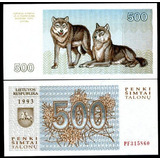 Lituania 500 Talonu 1993 Lobos