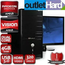 Computadora Nueva Dual Core A4 4000 4gb 1 Tb Dvd Placa Wi Fi