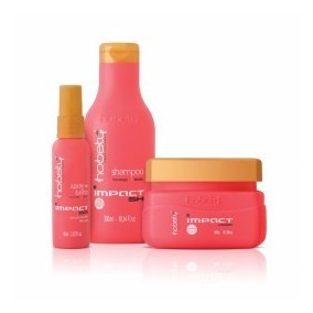 Kit Impacta Hobety (shampoo+máscara+ Spray De Brilho)