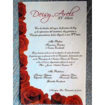 Invitación Xv Años, Boda Paquete Albanene Con 25 Inv.