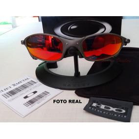 Oculos Oakley Juliet Xmetal Lente Firered+lente Black Gratis