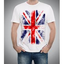 Camiseta Ou Baby Look Bandeira Inglaterra England Flag