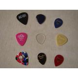 Lote 9 Palhetas Guitarra / Violão - Ibanez / Fender / Acdc