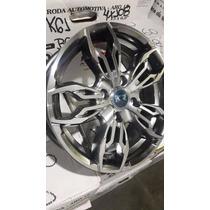 Jogo Roda New Fiesta Aro 14 4/5 Furos Ka Ford K61 Rs3+porca