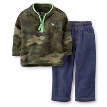 Cj Carters Blusa Fleece Calça Jeans (cambraia) 3, 12, 18 M