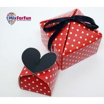 Kit Caixa Lembrancinhas 2 Tamanhos Minnie/ Mickey Em Papel