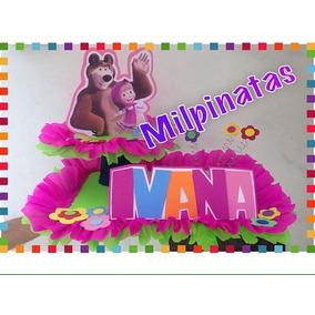 Chupeteros Masha Y El Oso. Piñatas, Fiestas.soy Luna.ladybug