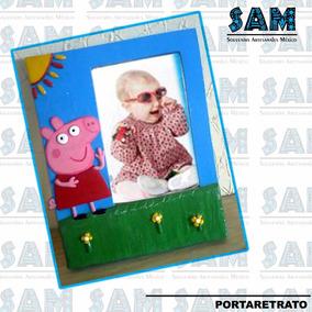 Portaretrato En Resina Pepa Pig Foto Familia Fiesta Recuerdo