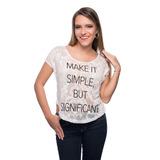 Franela Make It Simple De Tela De Encaje Saints Clothes