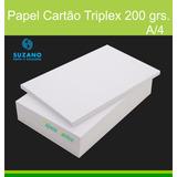 Papel Cartão Triplex 200gr Form. A3 200 Folhas
