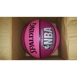 Balon De Basket Spalding Rosado Com Fucsia Traído De Usa