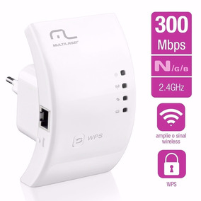 Repetidor Wireless Wifi S/ Fio 300mbps Wps - Multilaser