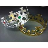 Corona Plastica Rey - Pack X 20 + 20 Coronitas Princesa