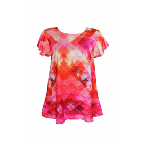 Blusa Iriá Estampa Exclusiva Decote V Costas